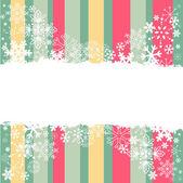 Cartolina di invito di inverno con i fiocchi di neve — Vettoriale Stock