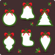 Christmas sale stickers and tags for discounts — Stock Vector #16215201