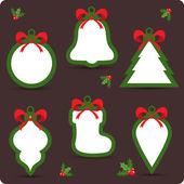 Natal venda etiquetas e tags para descontos — Vetorial Stock