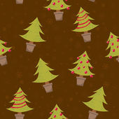 Seamless pattern with christmas trees — Stok Vektör
