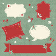 Christmas sale stickers and tags for text and discounts — Stock Vector