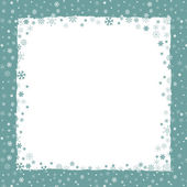 New Year (Christmas) background with snowflakes border — Stock Vector