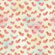 Stock Vector: Valentine seamless pattern with smiling hearts