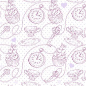 Romantic love vintage pattern — ストックベクタ