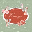 Royalty-Free Stock Vector Image: Valentine romantic love card with keys and hearts