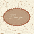 Royalty-Free Stock Vektorgrafik: Romantic vintage Valentine invitation postcard