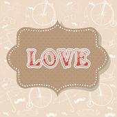 Romantic vintage Valentine invitation postcard — 图库矢量图片