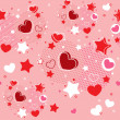 Cute Valentine seamless pattern — Stock Vector