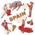 Set of Spanish symbols — Stock Vector