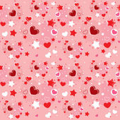 Cute Valentine seamless pattern — Stock Vector