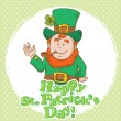 Stock Vector: Cute Saint Patrick