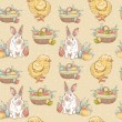 Easter vintage hand-drawn seamless pattern — Stock Vector #19457669
