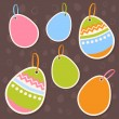 Royalty-Free Stock Vector Image: Easter colorful eggs discount sale stickers