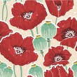 Royalty-Free Stock Vector Image: Spring floral seamless pattern with poppy