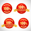 Best product guarantee label stickers - Stock Vector