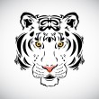 Tiger tattoo stylish ornate illustration — Stock Vector
