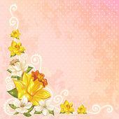 Beautiful spring floral postcard — Stock Vector