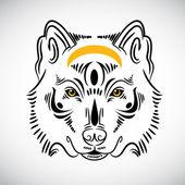 Wolf tattoo stylish ornate illustration — Stock Vector