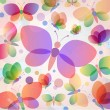Royalty-Free Stock Vector Image: Colorful butterflies summer pattern