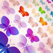 Colorful butterflies summer pattern — Stock Vector