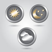 Set of weather icon buttons — Stock Vector
