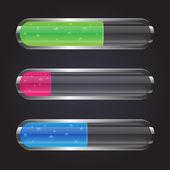 Kolorowe szkło przezroczyste pojemniki — Wektor stockowy