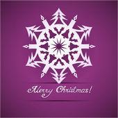 Carta fiocco di neve di carta origami natale — Vettoriale Stock