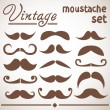 Stock Vector: Vintage hipster trendy moustache collection