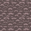 Stock Vector: Retro hipster moustache trendy seamless pattern
