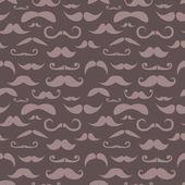 Retro hipster moustache trendy seamless pattern — Stock Vector