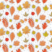 Autumn leaves colorful seamless pattern — Stock Vector