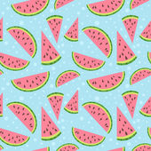 Watermelon vector colorful seamless pattern — Stock Vector