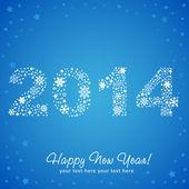 2014 New Year shiny invitation postcard — Stock Vector