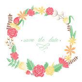 Elegant floral congratulation card — Stockvektor