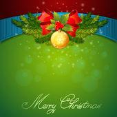 Christmas celebration sparkling postcard — Stock Vector