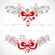 Set of Christmas and New Year decorative elements — Stock Vector #37170993