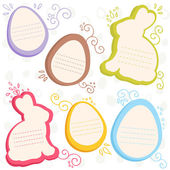 Easter bunny and eggs discount sale stickers — Stock Vector