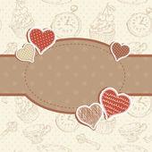Vykort för inbjudan till romantisk vintage valentine — Stockvektor