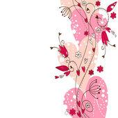 Elegant floral postcard — Stock vektor