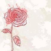 Flower grunge invitation love card — Stock Vector