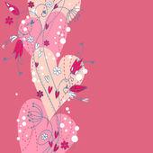 Elegant Valentine love floral postcard — Stock Vector