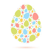 Easter egg stylized cute greeting — Stock Vector