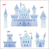 Cute cartoon vector medieval castle  — Stock Vector