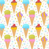 Fusione gelato seamless pattern colorati — Vettoriale Stock