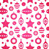 Cute christmas toys seamless pattern — Stock Vector