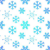 Winter ornate snowflakes decorative seamless pattern — Stock Vector