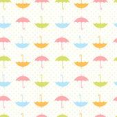 Autumn seamless pattern with flat umbrellas — Stock Vector