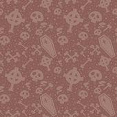 Creepy cartoon Halloween seamless texture — Stock Vector