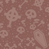 Creepy cartoon Halloween seamless texture — Vector de stock