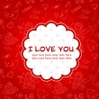Doodle Valentine's day love postcard — Stock Vector #8404127